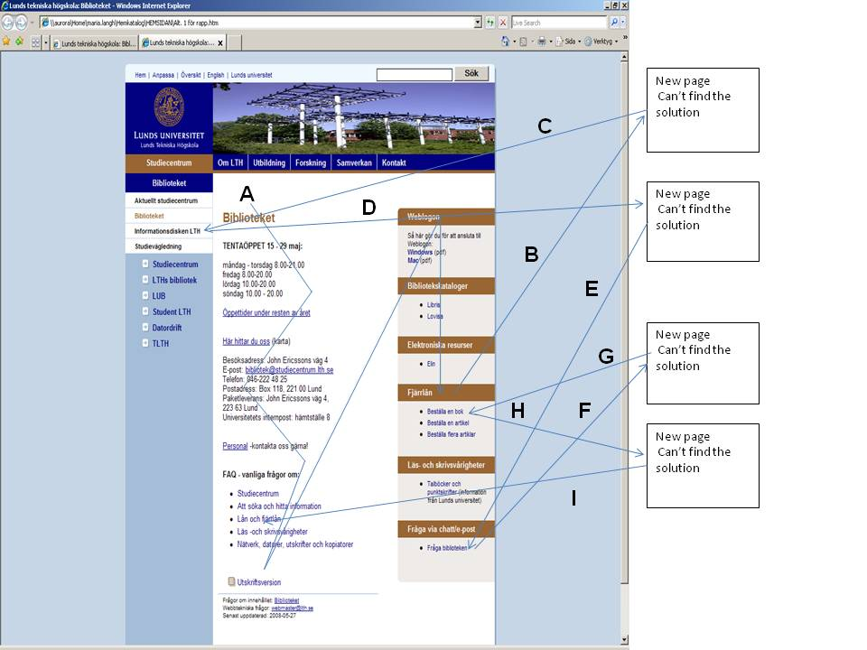 evaluating the usability of web pages a case study